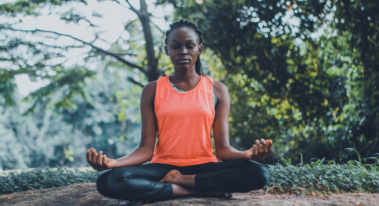 woman meditating for self-help